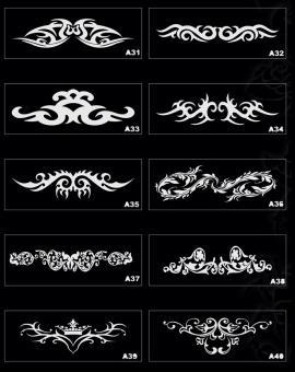 Трафареты для временных татуировок в Воронеже