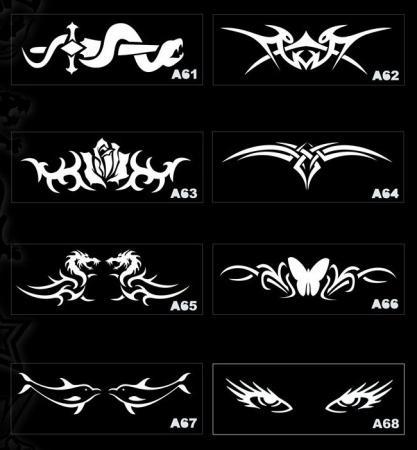 Трафарет для временных татуировок