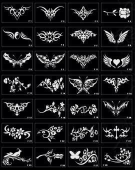Трафареты для блеск тату и бикини дизайн в Воронеже